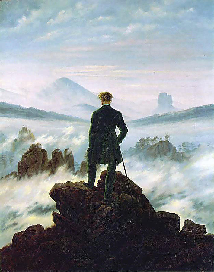 "Den romantiske naturen. Caspar David Friedrich: ""Vandreren"", 1818."