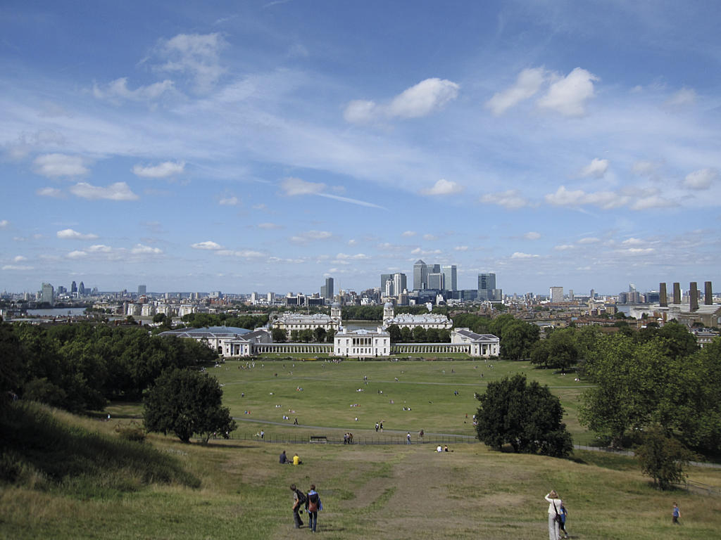 Greenwich Park, London, med the Queen's House (1619). Foto:  wikimedia